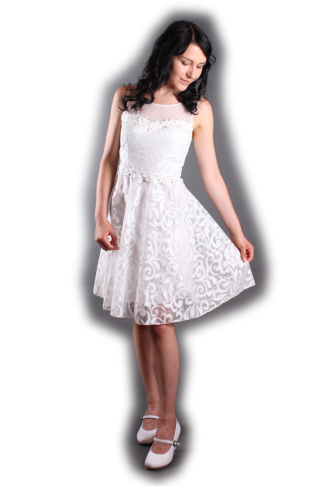 Abendkleid White Shine