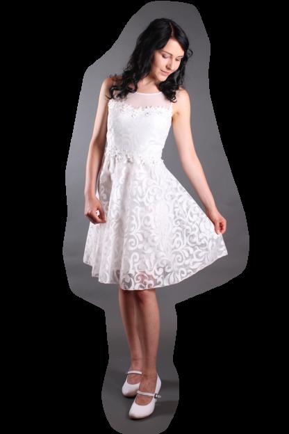 Abendkleid White Shine